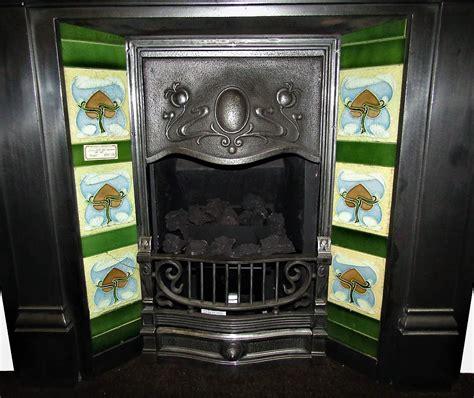 buy  antique  art nouveau fireplace tile set