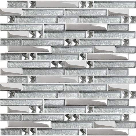 Mirrored Bathroom Wall Tiles by Silver Metal Plated Glass Tiles For Kitchen Backsplash