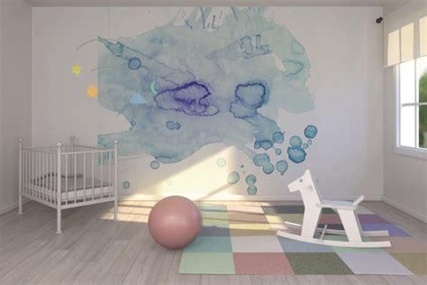 decoration murale bebe chambre deco chambre bebe mur aquarelle picslovin