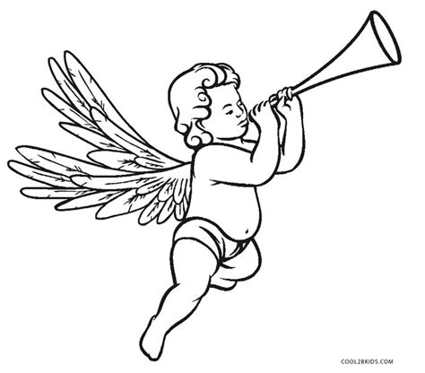 printable angel coloring pages  kids