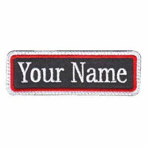 rectangular 1 line custom embroidered name tag c ebay With embroidered tags personalized