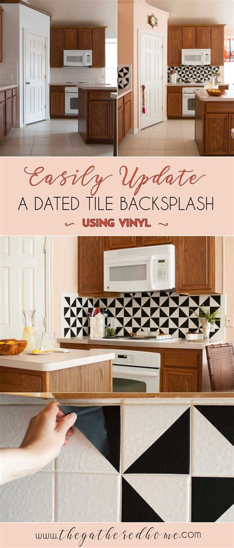 vinyl tiles for kitchen best 25 vinyl backsplash ideas on kitchen 6909
