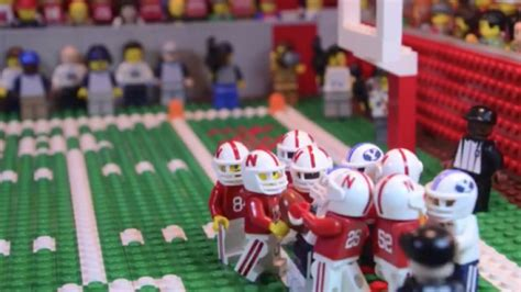 incredible lego recreation  byus hail mary