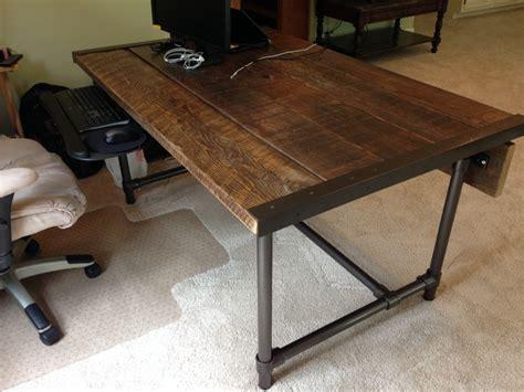 build a wooden desk easy to build barn wood desk desk week