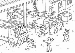 Feuerwehr, Ausmalbilder