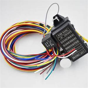 12 Circuit Universal Wiring Harness For Muscle Car Hot Rod