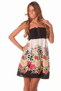robe noire imprimee fleurs With chambre bébé design avec robe fleurie hiver
