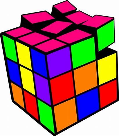 Rubik Transparent Cube Neon Clipart Colorful Clip