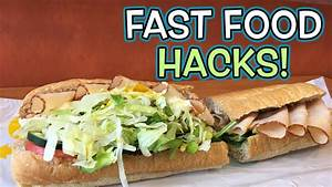 TOP 10 Fast Food HACKS YOU NEED TO KNOW! - YouTube
