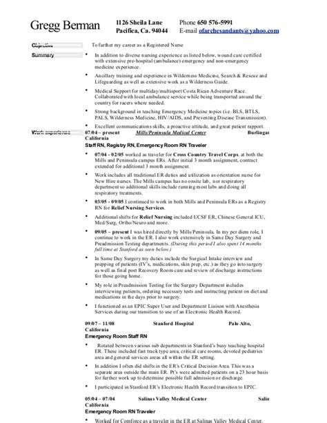 Er Resume by Er Responsibilities Resume