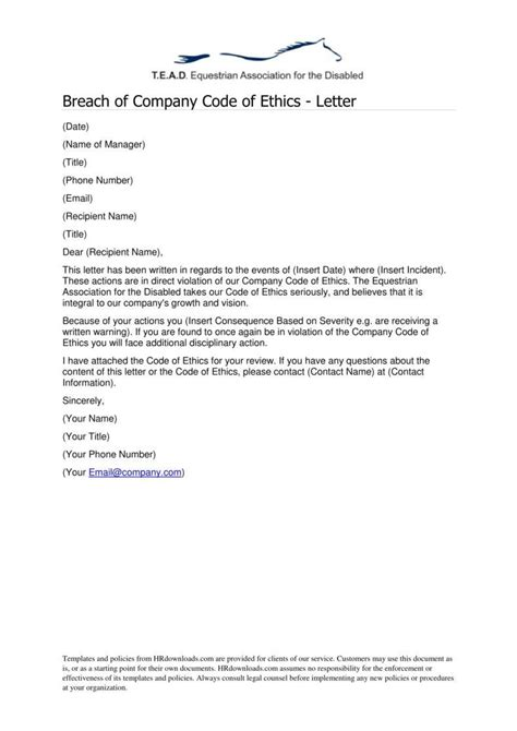 work warning letter template  samples examples