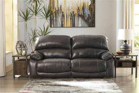 hallstrung gray seat reclining power sofa ashley