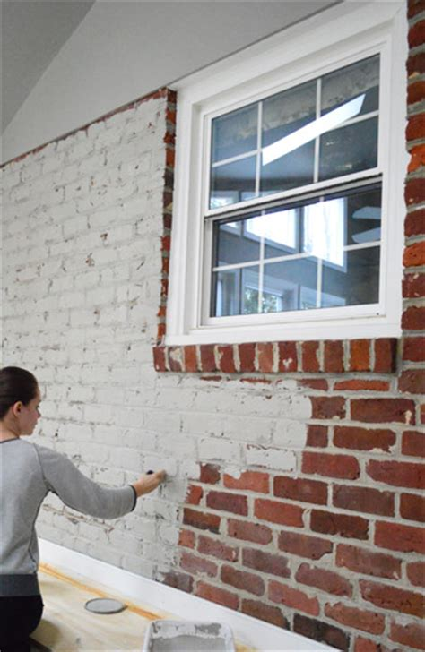 how to paint bricks on a wall how to paint a brick wall and unify a choppy room young house love