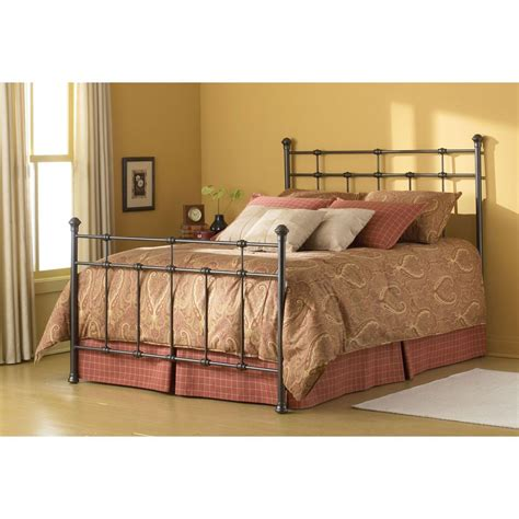 wrought iron spindles iron bed in hammered brown humble abode