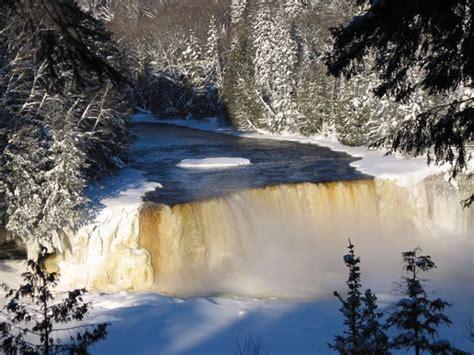 frozen motion  upper peninsulas waterfalls  winter