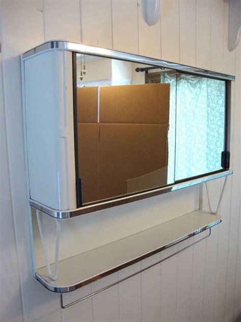 metal bathroom vintage 50 s metal mirror bathroom wall medicine cabinet chest white chrome mid century