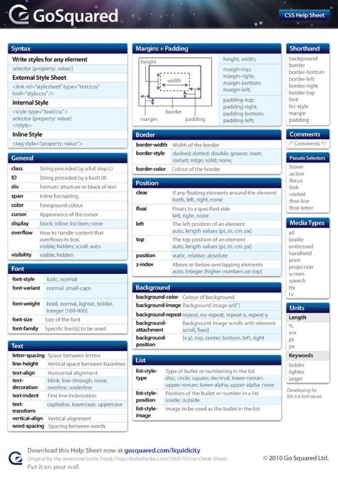 free html5 css3 and jquery cheat sheets