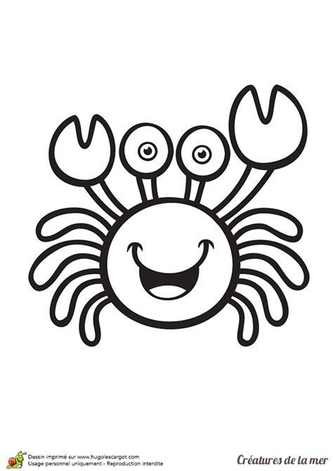 un jeu de cuisine coloriage les créatures de la mer le crabe hugolescargot com