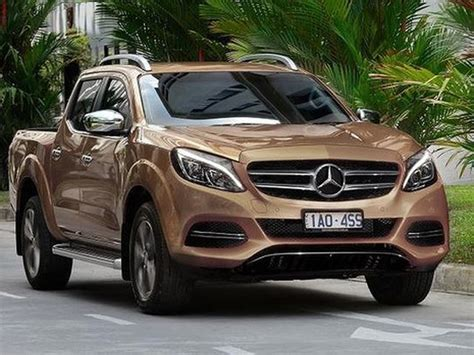 mercedes benz glt   pickup truck  suit modernity