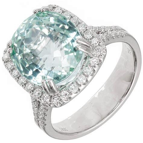 mint green tourmaline halo white gold ring at 1stdibs