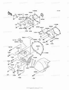 Kawasaki Motorcycle 1998 Oem Parts Diagram For Left Engine Cover S