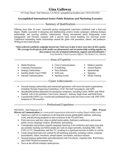 public relations sample resume 266 best resume examples images on pinterest best resume