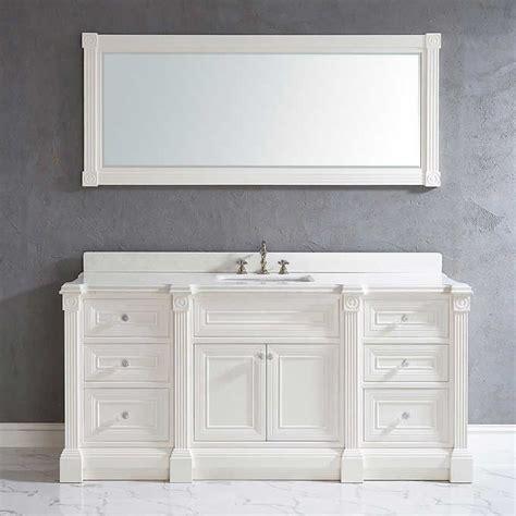 Single Sink Bathroom Vanity Cabinets by 72 Inch White Finish Single Sink Bathroom Vanity Cabinet