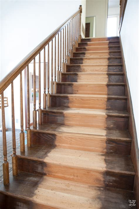 Staining Staircase Steps   In My Own Style