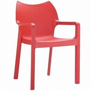Fauteuil En Plastique : chaise de jardin empilable en plastique rouge achat ~ Edinachiropracticcenter.com Idées de Décoration