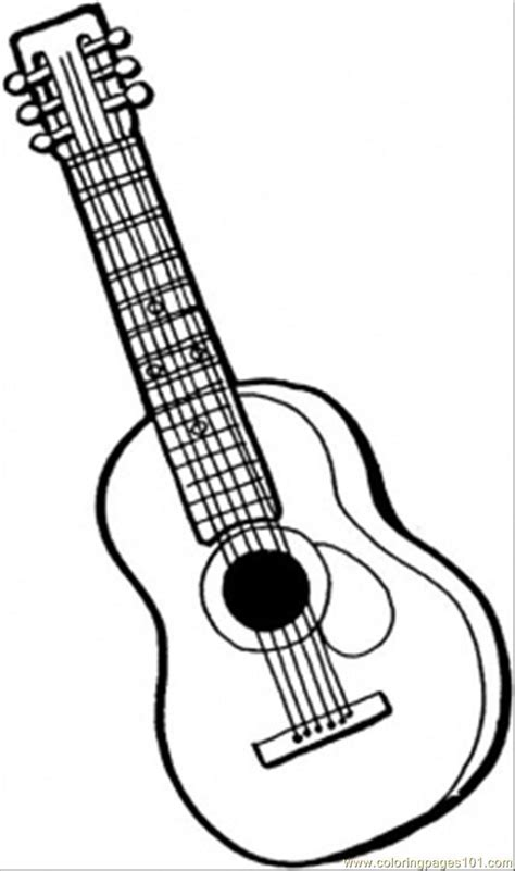 string guitar coloring page  instruments coloring pages coloringpagescom