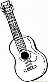 Coloring Pages Instruments Guitar String Printable Instrument Bass Mandolin Musical Colouring Drawing Outline Sheets Acoustic Adult Getcoloringpages Violin Line Sheet sketch template