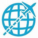 Global Icon Icono Transparent Volador Volar Flying