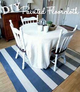 Painted floor cloth creatively southern for How to paint a floor cloth