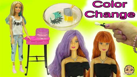 Barbie Twist Hair Color Change & Color Changer Makeup
