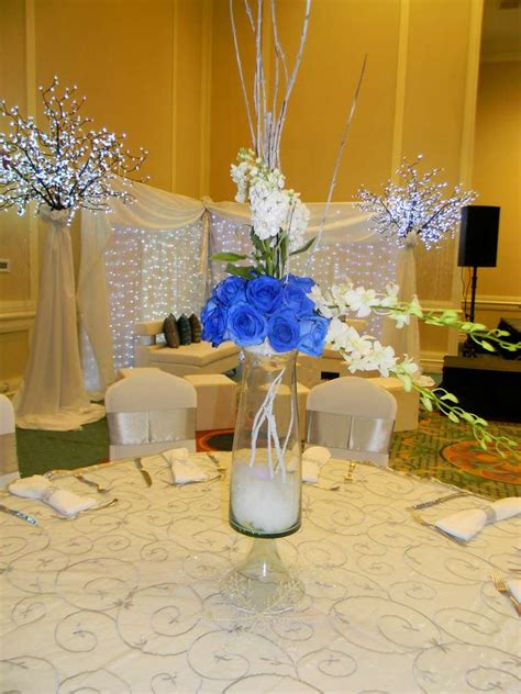 winter themed centerpieces winter wonderland party ideas holiday wedding and prom