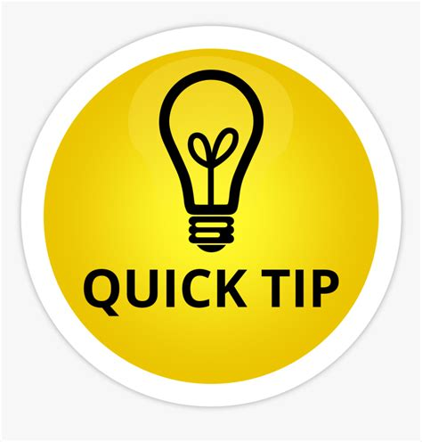 Transparent Tips Clipart - Quick Tip, HD Png Download ...