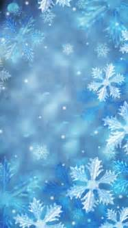 Snow Background Blue Snowflakes