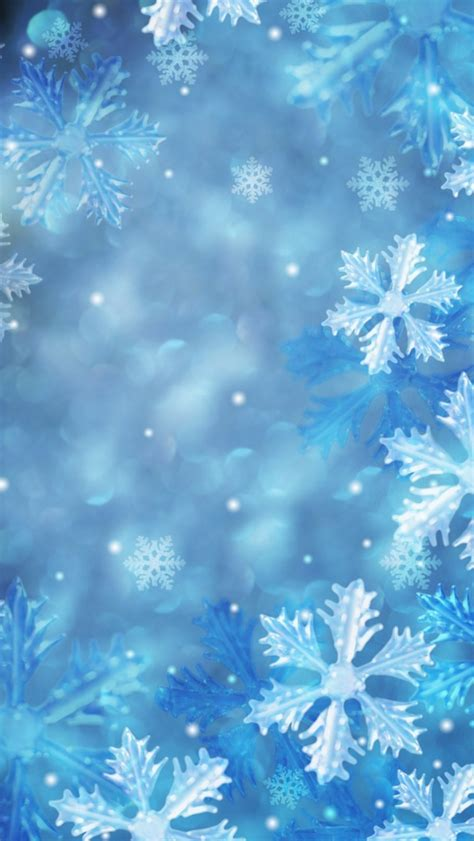 blue snowflakes wallpaper free iphone wallpapers