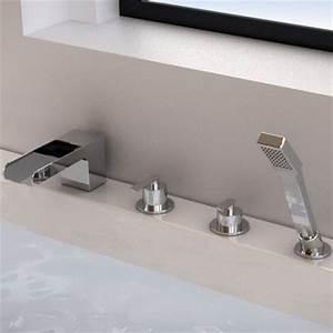 Mitigeur Sur Baignoire : robinet mitigeur bain plage cascade ~ Edinachiropracticcenter.com Idées de Décoration