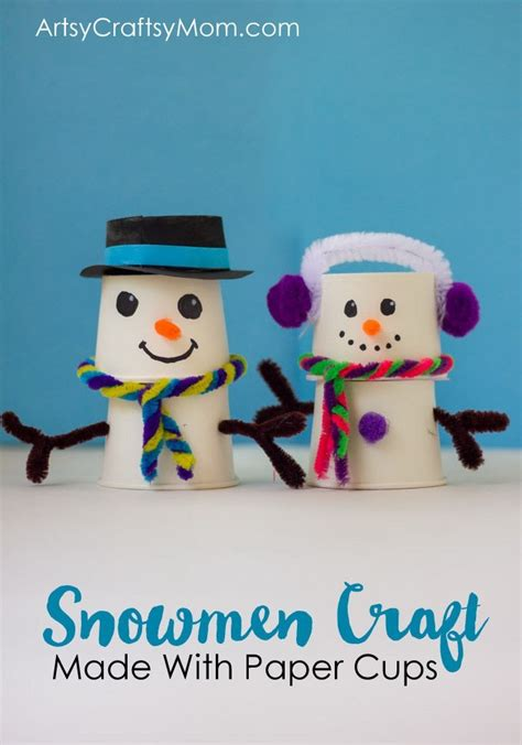 absolutely adorable paper cup snowman craft  christmas