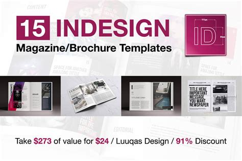 indesign magazine last chance 15 indesign magazine brochure templates only 24 mightydeals