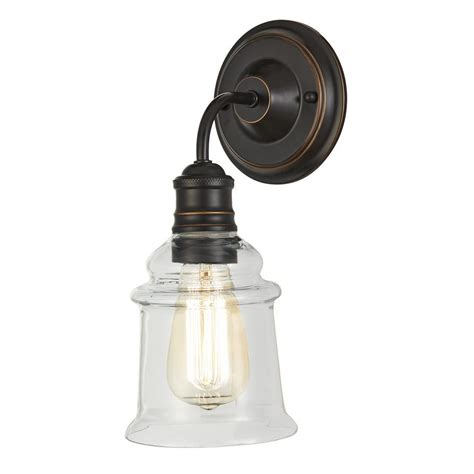 bronze and wall sconces home decorators collection 1 light antique bronze wall