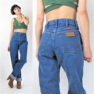 Vintage Wrangler Jeans Womens 80s 90s High Waist Jeans Soft