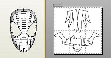 spiderman face shell pepakura file foam version