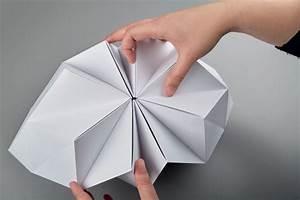 Abat Jour Origami : tuto origami boule de noel ~ Teatrodelosmanantiales.com Idées de Décoration