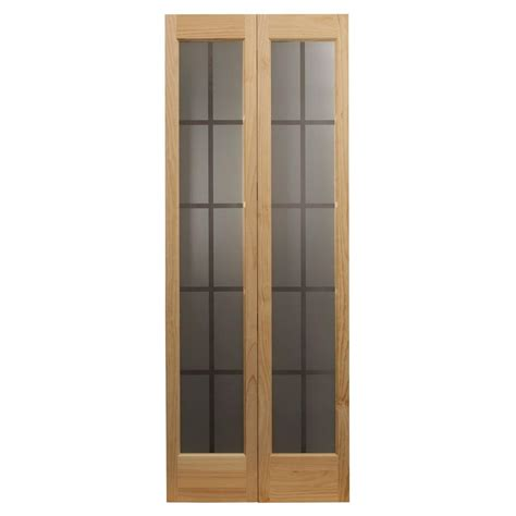 home depot bi fold doors pinecroft 36 in x 80 in colonial glass universal