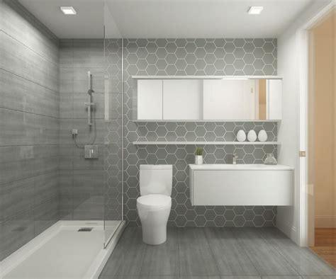 id 233 e d 233 coration salle de bain salle de bain avec grosse c 233 ramique grisew avec vitr 233 e et