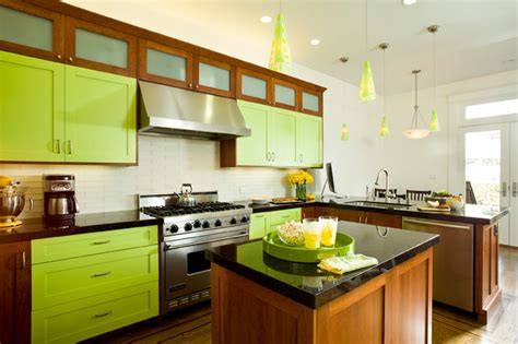 kitchen cabinets san francisco bright lime green eclectic kitchen san francisco