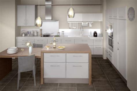 deco cuisine blanc et bois cuisines blanches et bois with cuisines blanches et bois