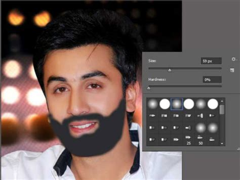 Create Facial Hair With Simple Brush Tool In Photoshop